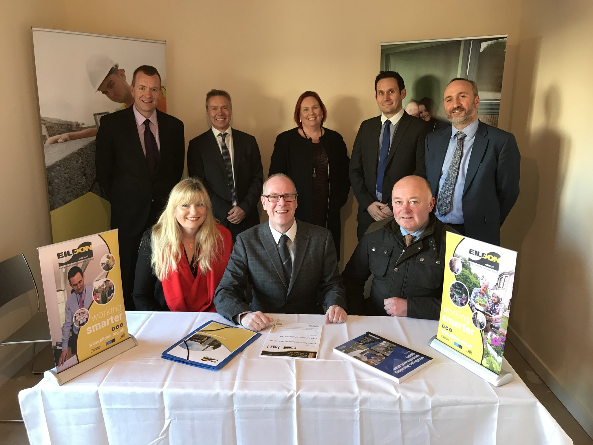 Minister for Local Government & Housing Supports Innovative Partnership Agreement between Eildon Group and Hart Builders